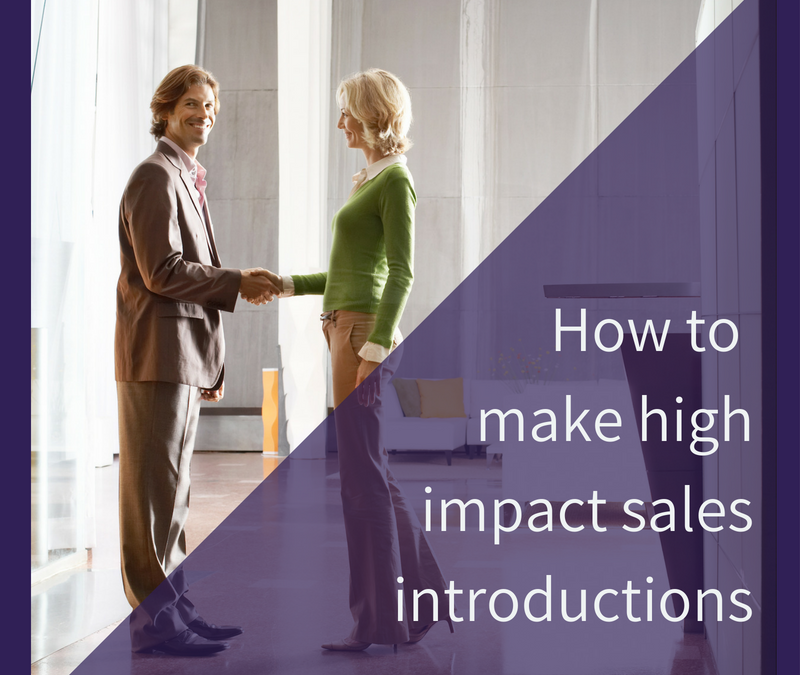 How to make a high impact sales introduction