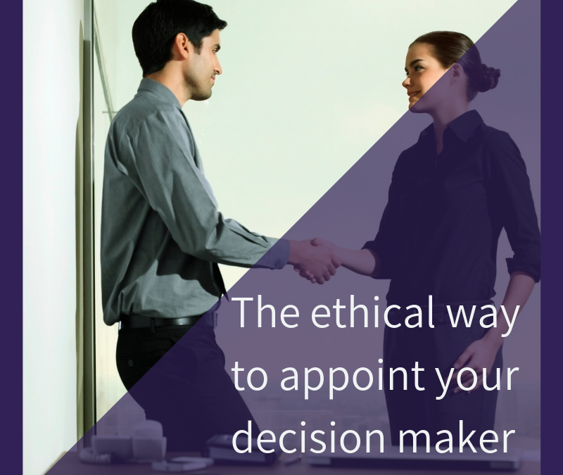 Stop Stalking – The ethical way to quickly appoint your decision maker