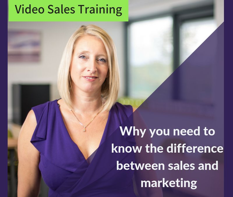 Why you need to know the difference between Marketing and Selling