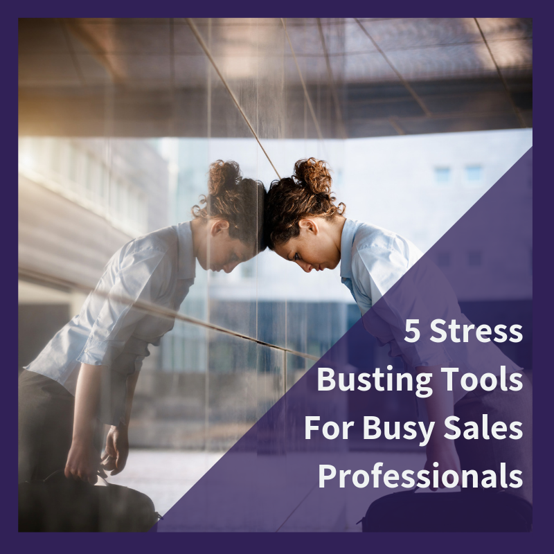 Sales tips to reduce stress